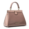 Picture of Michael Kors Grammercy Frame Small Satchel - Dusty Rose Multi