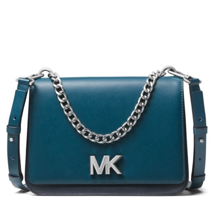 Picture of Michael Kors Mott Large Chain Swag Shoulder- Luxe Teal/Admiral