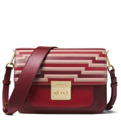 Picture of Michael Kors Sloan Editor Large Shoulder Bag - Oxblood
