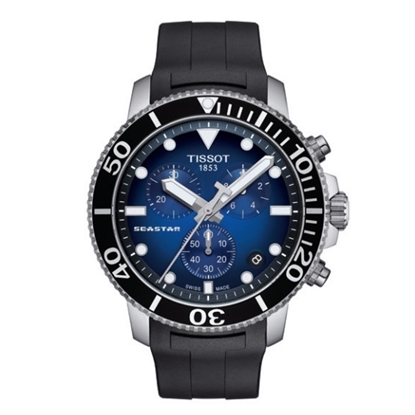 Picture of Tissot Seastar 1000 Chrono - Black Strap with Blue Dial