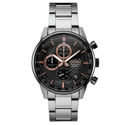 Picture of Seiko Essentials Chronograph - Black Dial & Rose Gold Accents