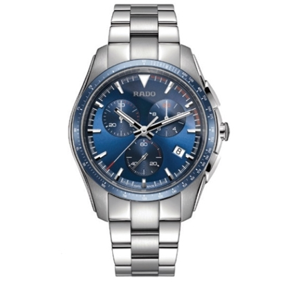 Picture of Rado HyperChrome Chrono Stainless Steel Watch with Blue Dial