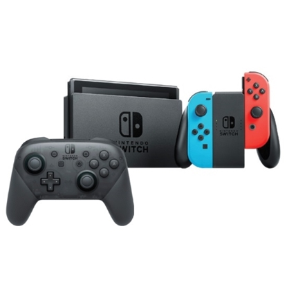 Picture of Nintendo Switch Gaming System w/ Three Games & Pro Controller