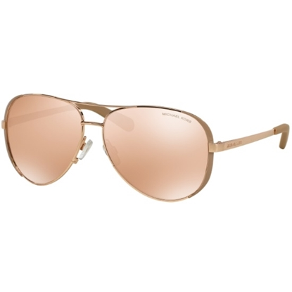 Picture of Michael Kors Chelsea Aviators with Rose Gold Flash Lenses