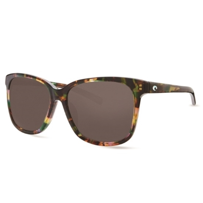 Picture of Costa May Sunglasses with Shiny Abalone Frame and Gray Lenses