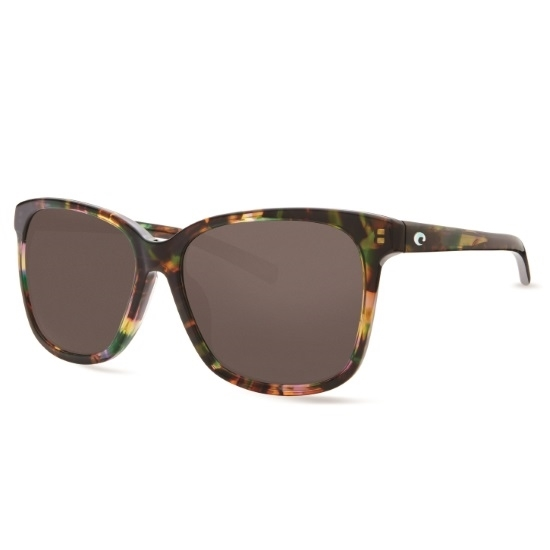 ae606c5c66b9 Picture of Costa May Sunglasses with Shiny Abalone Frame and Gray Lenses