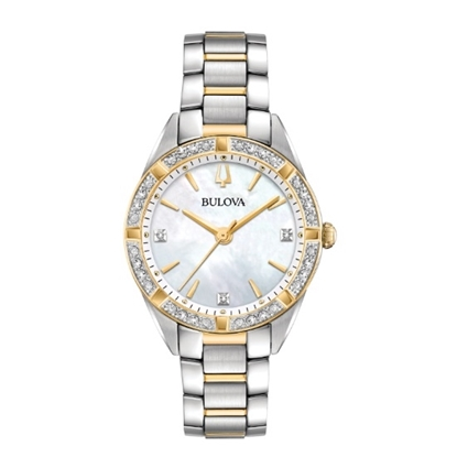 Picture of Bulova Classic Sutton Diamond Accent Watch with MOP Dial