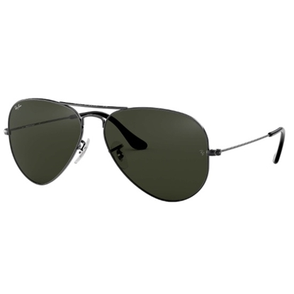 Picture of Ray-Ban® Aviator Sunglasses - Gunmetal/Green G15 Lens