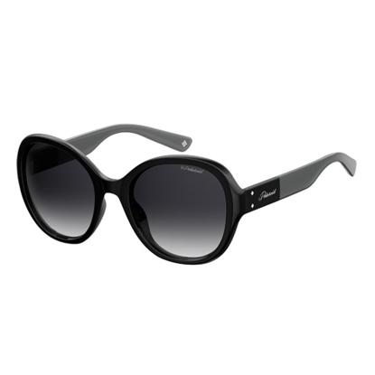 Picture of Polaroid Oval Sunglasses - Black/Gray