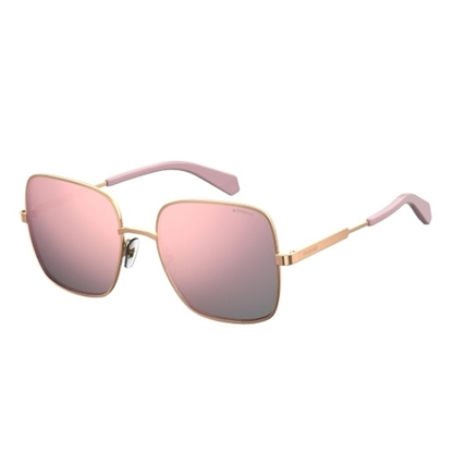 Picture of Polaroid Square Metal Sunglasses - Gold Pink/Grey Rose Gold