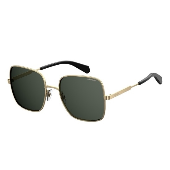 Picture of Polaroid Square Metal Sunglasses - Antiqued Gray/Gray Lens