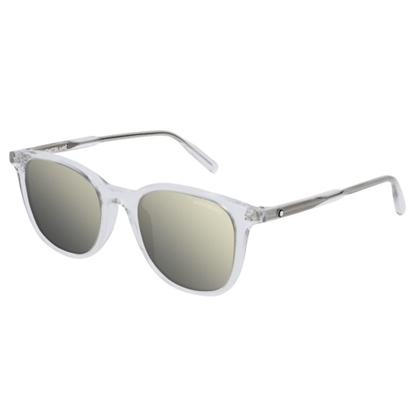 Picture of Montblanc Mr.Snowcap Sunglasses - Grey/Ivory Mirror
