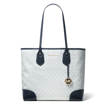 Picture of Michael Kors Eva Signature Large Tote - White/Navy