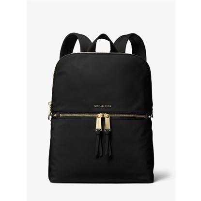Picture of Michael Kors Polly Medium Slim Zip Backpack - Black