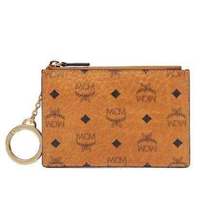 Picture of MCM Visetos Original Key Pouch - Cognac