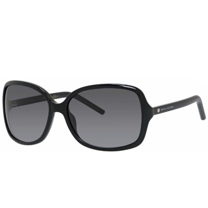 Picture of Marc Jacobs Rectangular Sunglasses - Black/Gray Gradient Lens