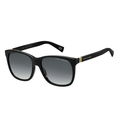 Picture of Marc Jacobs Ladies' Sunglasses - Black/Dark Gray Gradient Lens