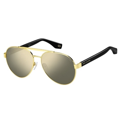 Picture of Marc Jacobs Aviator Sunglasses - Black Gold/Grey Ivory Mirror
