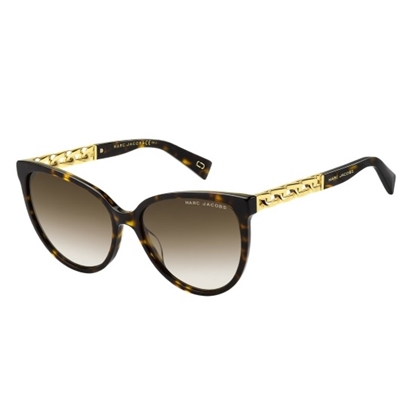 Picture of Marc Jacobs Chain-Link Sunglasses - Dark Havana/Brown Gradient