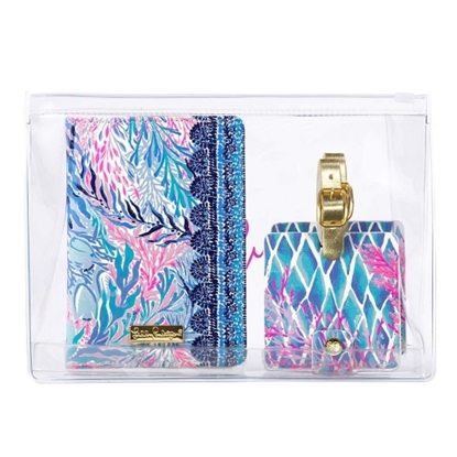 Picture of Lilly Pulitzer Travel Set - Kaleidoscope Coral