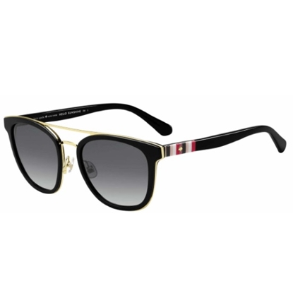 Picture of Kate Spade Jalicia Sunglasses - Black/Dark Grey Gradient Lens