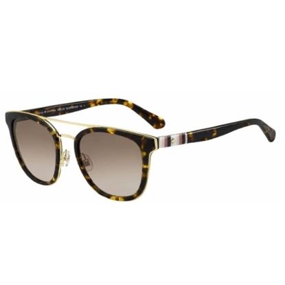 Picture of Kate Spade Jalicia Sunglasses- Dark Havana/Brown Gradient Lens