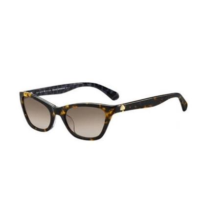 Picture of Kate Spade Johneta Sunglasses- Dark Havana/Brown Gradient Lens