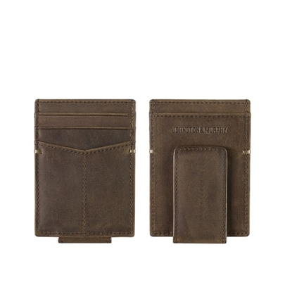 Picture of Johnston & Murphy Front Pocket Wallet - Brown Brown Oiled