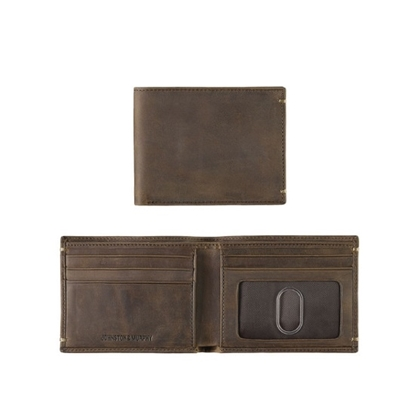Picture of Johnston & Murphy Slimfold Wallet - Brown Oiled
