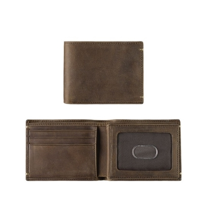 Picture of Johnston & Murphy Flip Bifold Wallet - Brown Oiled