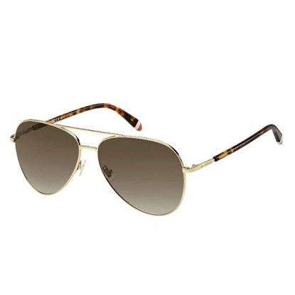 Picture of Fossil Aviator Sunglasses - Light Gold/Brown Gradient Lens