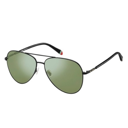 Picture of Fossil Aviator Sunglasses - Matte Black/Green Lens