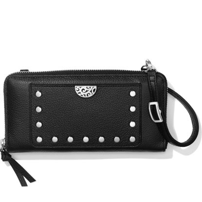 Picture of Brighton® Rox Large Zip Wallet - Black