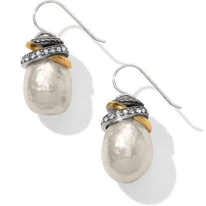 Picture of Brighton® Neptune's Rings Pearl French Wire Earrings