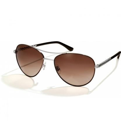 Picture of Brighton® Helix Sunglasses - Chocolate/Silver