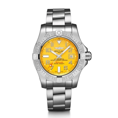 Picture of Breit Avenger II Seawolf - Steel Satin with Yellow Dial