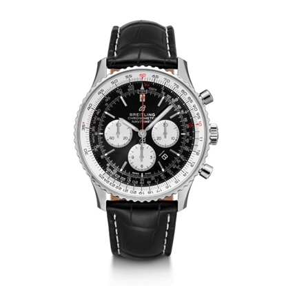 Picture of Breitling Navitimer 1 B01 Chrono 46 - Black Croco Strap