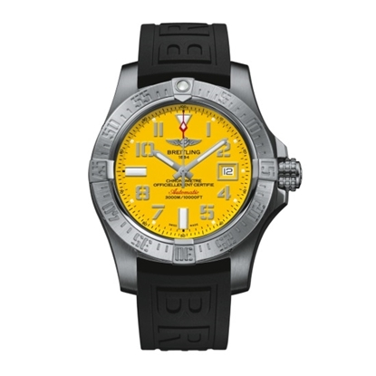 Picture of Breitling Avenger II Seawolf - Diver Pro 3 Strap & Yellow Dial