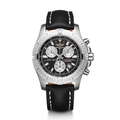 Picture of Breit Colt Chronograph - Black Leather Strap & Black Dial