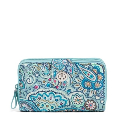 Picture of Vera Bradley Iconic RFID Turnlock Wallet