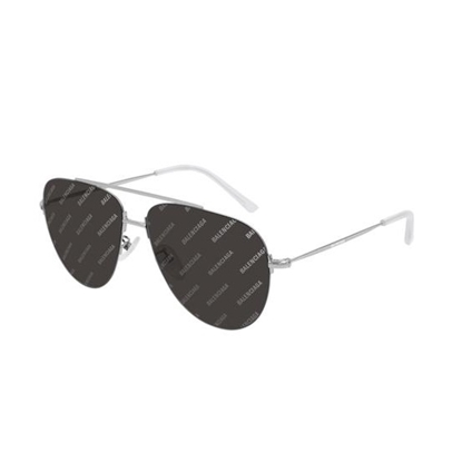 Picture of Balenciaga Naked Sunglasses - Grey/Silver Logomania