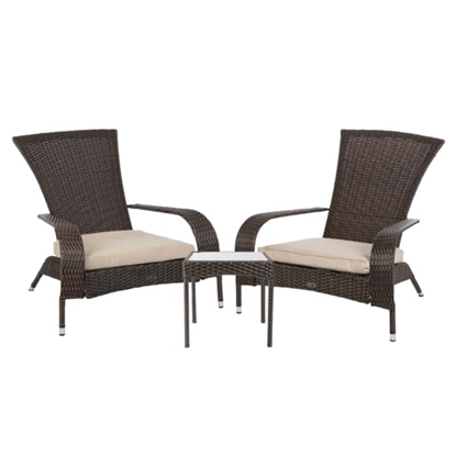 Picture of Patio Sense Coconino Wicker Chat Set