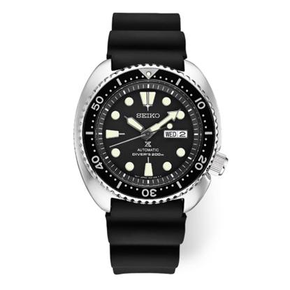 Picture of Seiko Men's Prospex Auto Diver Watch with Black Silicone Strap