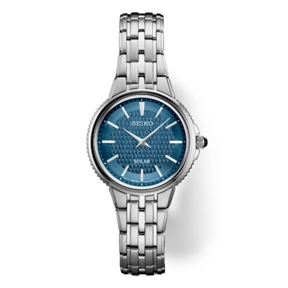 Picture of Seiko Ladies' Essentials Stainless Steel Watch with Blue Dial