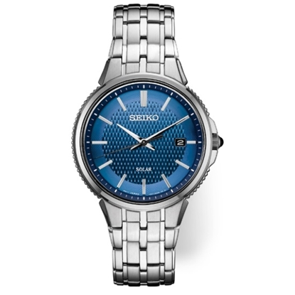 Picture of Seiko Men's Essentials Stainless Steel Watch with Blue Dial