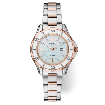 Picture of Seiko Ladies' Diamonds Two-Tone Watch with Ceramic Bezel