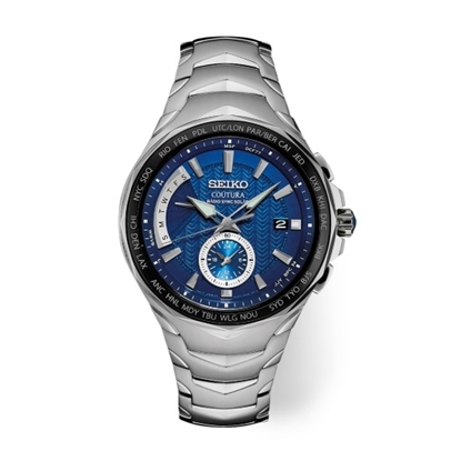 Picture of Seiko Men's Coutura Radio Sync Solar Dual Time Watch