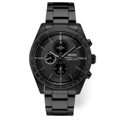 Picture of Seiko Men's Essentials Chrono Watch with Black Ion Finish