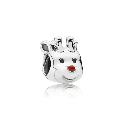Picture of Pandora® Red-Nosed Reindeer, Red Enamel Charm