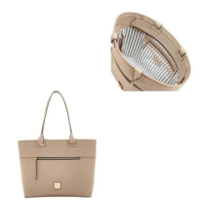 Picture of Beacon Large Zip Tote - Light Taupe